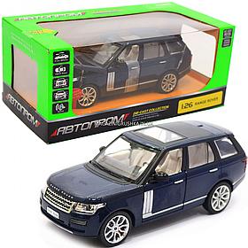 Машинка ігрова автопром «Range Rover» джип, метал, 18 см, синій (світло, звук, двері відкриваються) 68263A
