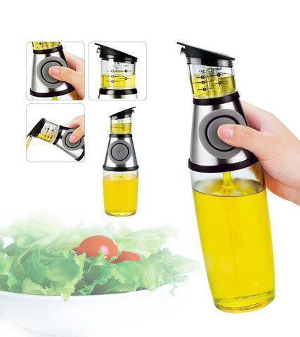 Бутылка с дозатором для масла и уксуса  Press and Measure масляный диспенсер 500 мл