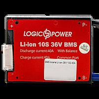 BMS плата Li-ion 36V 10S 40A симметрия, фото 1