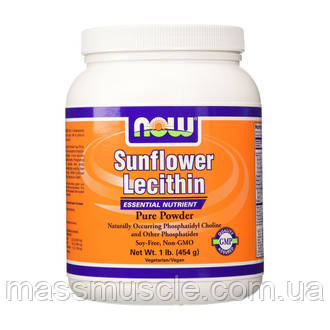 Подсолнечный лецитин NOW Foods Sunflower Lecithin Pure Powder 454 g