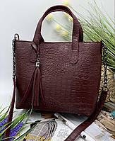 Женская сумка 112 бордовый купить женские сумки оптом от производителя в Украине