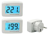 Вольтметр DM55-1 80-300 V переменного тока с евровилкой