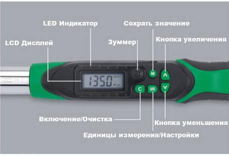 """Моментный цифровой ключ TOPTUL 10-200Нм (двустороннего действия) 1/2"""" DT-200I4, фото 2"""