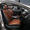 Накидка на сидіння з алькантари Коричневі Elegant Palermo 700 205 (передні)