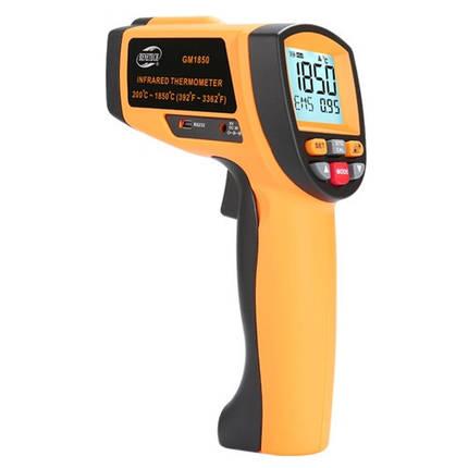 Лазерный бесконтактный цифровой пирометр 200-1850°C BENETECH GM1850, фото 2