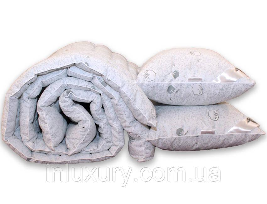 """Одеяло лебяжий пух """"Cotton"""" 1.5-сп. + 2 подушки 70х70"""