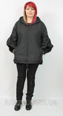 Женская куртка Darkwin (Турция),  52-64 р, черный