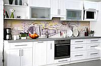 """Скинали на кухню Zatarga """"Акварельный Город"""" 600х2500 мм виниловая 3Д наклейка кухонный фартук самоклеящаяся"""