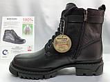 Кожаные зимние ботинки-берцы на молнии Bertoni, фото 3