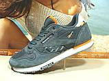 Мужские кроссовки Reebok classic (реплика) серые 46 р., фото 2