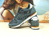 Мужские кроссовки Reebok classic (реплика) серые 46 р., фото 6