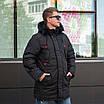 Куртку парку зимнюю мужскую с мехом  44-54 цвет 02, фото 3