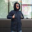Куртку парку зимову чоловічу з хутром 44-54 колір 02, фото 7