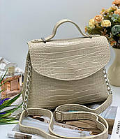 Женский сумка на плечо 055 бежевый женские клатчи, женские сумки купить оптом в Украине