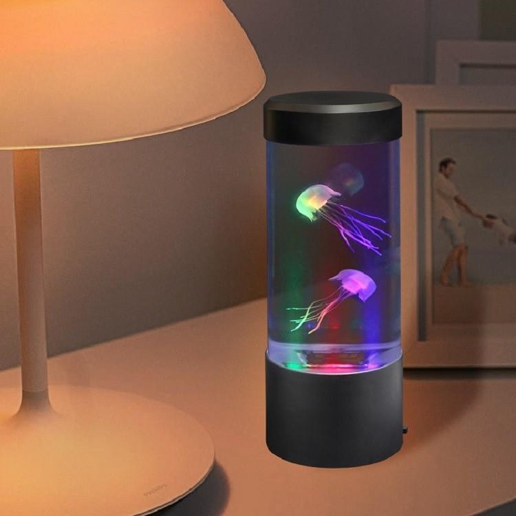 Лампа - ночник аквариум со светодиодной подсветкой и медузами LED Jellyfish Mood Lamp