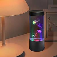 Лампа - ночник аквариум со светодиодной подсветкой и медузами LED Jellyfish Mood Lamp, фото 1