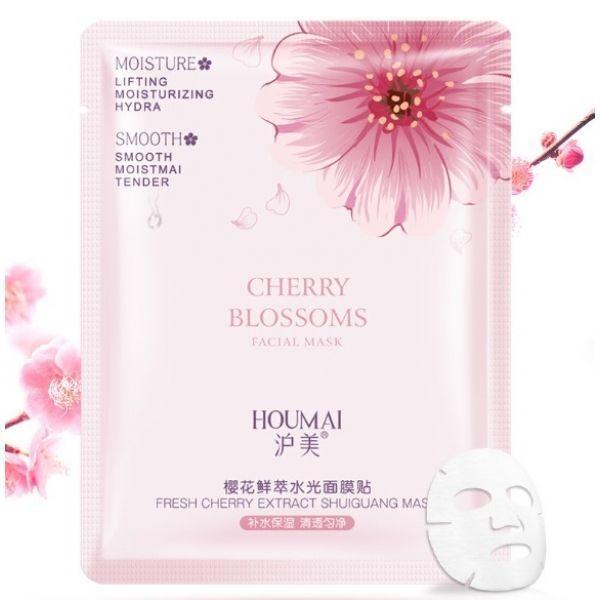 Підтягуюча тканинна маска для обличчя HOUMAI FRESH CHERRY EXTRACT SHUIGUANG MASK з екстрактом квітів вишні 25