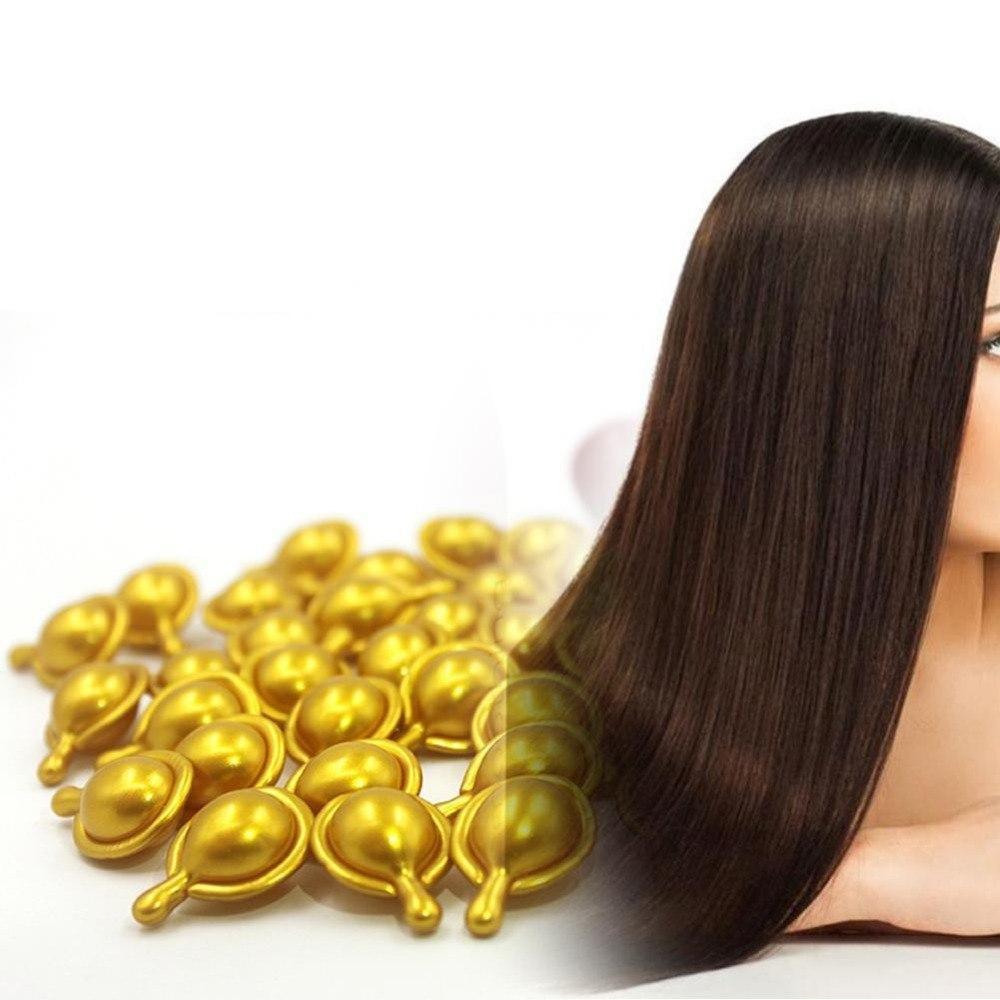 Витаминные тайские капсулы Super Long Hair для сухих и поврежденных волос, желтые капсулы, от 10 капс.