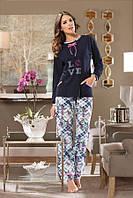 Женская пижама с брюками хлопок