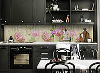 """Скинали на кухню Zatarga """"Винтажные Орхидеи"""" 600х2500 мм виниловая 3Д наклейка кухонный фартук самоклеящаяся, фото 1"""