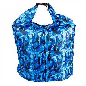 Сумка-мешок водонепроницаемая SF23952 70х85 см, синий камуфляж