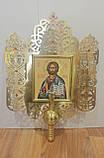 Запрестольна ікона з латуні з камінням, фото 2