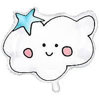 Фольгированный шар Облачко со звёздочкой 54х43 см (PartyDeco)
