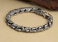 Мужской серебряный браслет Серпантин 52 гр. 22 см.