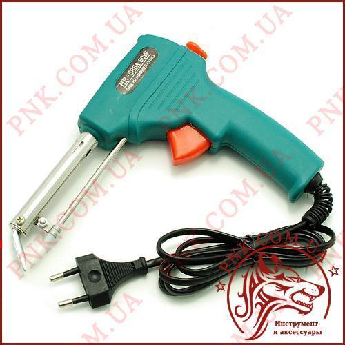 Паяльник HanBao HB-585A c автоматичною подачею припою від 0.8 мм до 2.3 мм., 60W