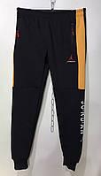 Мужские спортивные штаны под резинку на флисе джордан 48-56 желтый