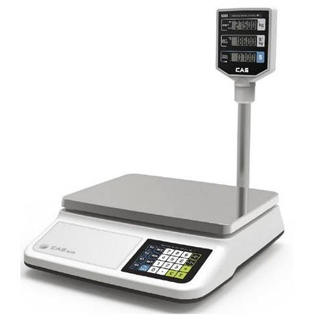 Весы торговые CAS PR-15 II P со стойкой (6 кг), фото 2