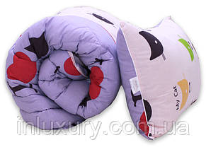 "Одеяло лебяжий пух ""Cats"" 1.5-сп. + 1 подушка 50х70, фото 2"