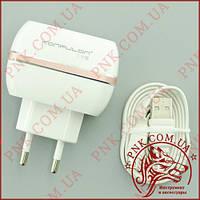 Сетевое зарядное устройство USB Konfulon C23 (2 USB, 5V - 2.4A MAX + кабель micro USB)