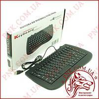Клавиатура мультимедийная Mini Keyboard 968 (USB, проводная)
