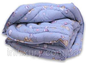 "Одеяло лебяжий пух ""Мишки син."" 1.5-сп. + 1 подушка 40х60, фото 2"
