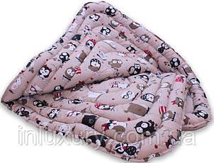 "Одеяло лебяжий пух ""Совы"" 1.5-сп. + 1 подушка 50х70, фото 2"
