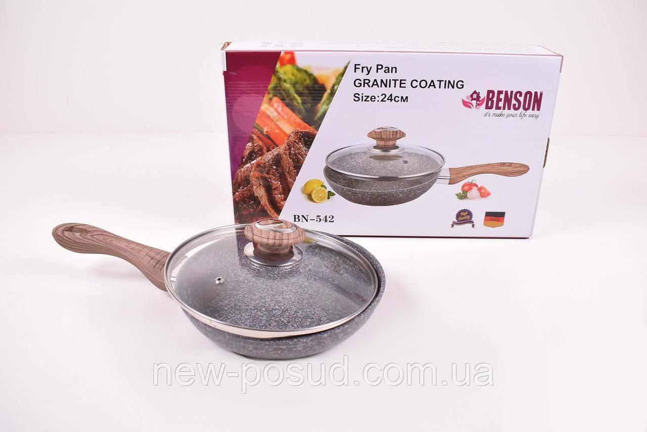 Сковорода з кришкою 24 см Benson BN-542
