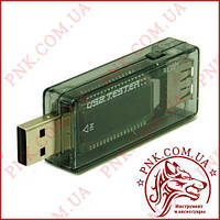 USB тестер KWS-V21 DC 3.5-20V 0-3.3 A з лічильником 0-99999mah LCD