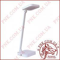 Лампа LED світильник настільний 8W сенсор, диммер, рівні яскравості, USB TL-08W білий