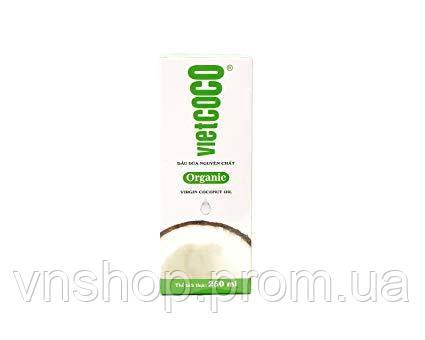 Органическое натуральное кокосовое масло Vietcoco для кожи и волос 250 мл