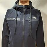 Теплый спортивный костюм молодежный р. м чёрный, фото 8