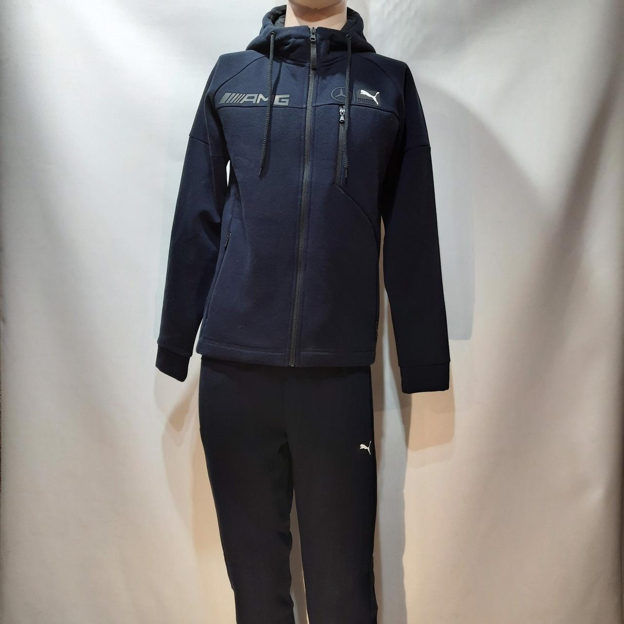 Теплый спортивный костюм молодежный р. м чёрный