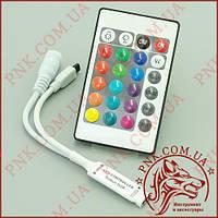 Контроллер RGB OEM 12-24V 6A 2 канала по 3A, ИК пульт 2.4GHz