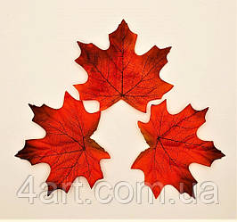 Листья клена, осенние уп. 50 шт., тканевые, бурые 9х12 см, №613