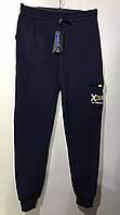 Мужские спортивные штаны под резинку на флисе с накладным карманом 46-54 темно-синий