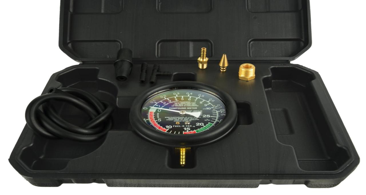 Тестер вакуумного і паливного насосів вакуумметр GEKO G02508