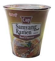 Лапша Рамен быстрого приготовления со вкусом говядины (Samyang Ramen Cup) SamYang 65 г