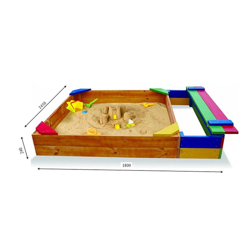 Детская песочница деревянная для детского сада