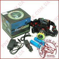 Аккумуляторный налобный фонарь BL-T105-T6
