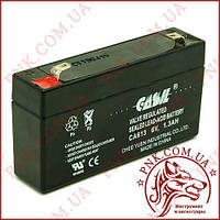 Акумулятор свинцево-кислотний Casіl 6v 1.3 a